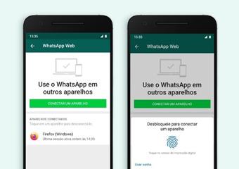 Acesso ao WhatsApp Web agora ganha desbloqueio por impressão digital